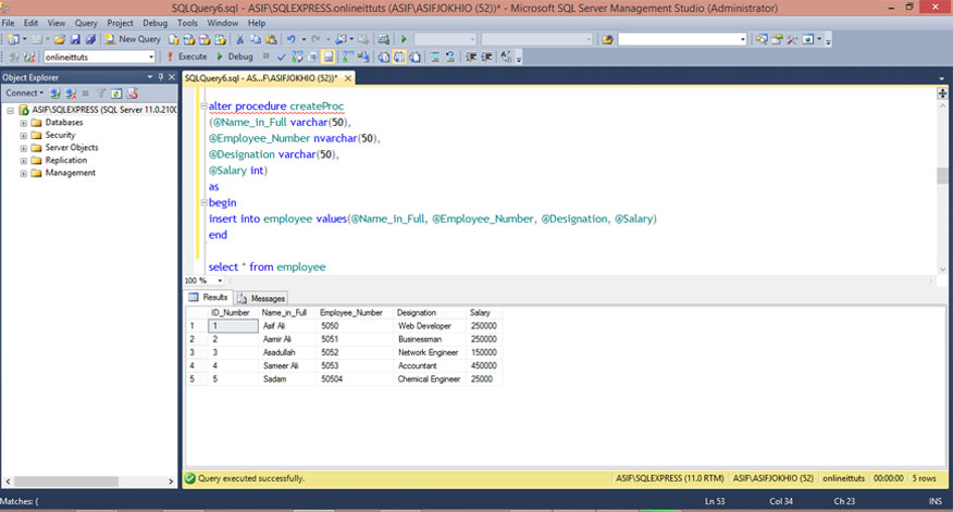 Alter Stored Procedure in SQL Server