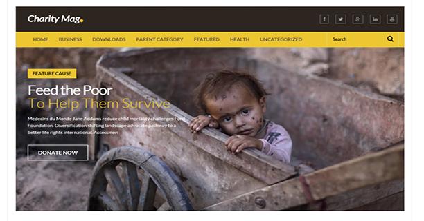 Charity-Mag-Free-Blogger-Template