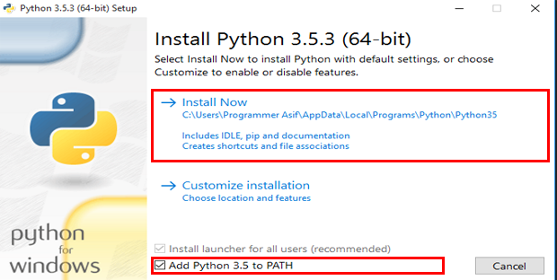 Check-Add-Python-Path-and-Install-Now