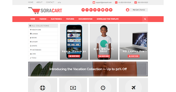 Sora-Cart-Blogger-Template
