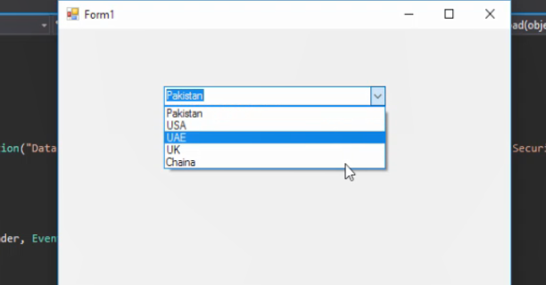 Fill Combobox from Database in C#