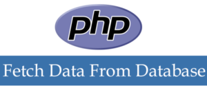 Fetch Data from Database in PHP