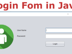Login Form in Java