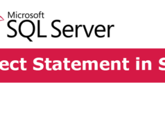 Select Statement in SQL Server
