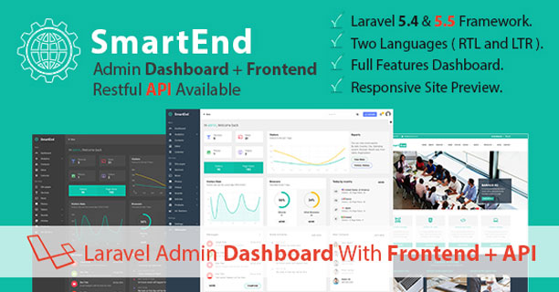 SmartEnd-Laravel-Admin-Dashboard-with-Frontend-and-Restful-API